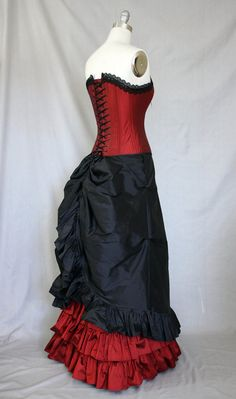 Victorian Goth/Steampunk Gown by RachelKerbyCouture on Etsy