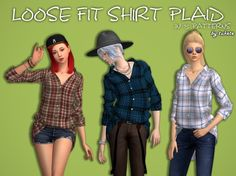 Loose Fit Plaid Shirt at Tukete via Sims 4 Updates Check more at http://sims4updates.net/clothing/loose-fit-plaid-shirt-at-tukete/