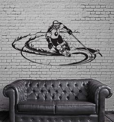 Wall Decal Hockey Player Sports Fan Boys Room Mural Vinyl Stickers (ig2793)