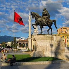 Skanderbeg Square, Tirana, Albania.   I hope to someday visit Albania!