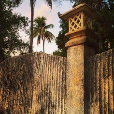 Some of the fences are amazing here on Lombok - aged concrete with interesting features. #upsticksngo #travelphotos #travellingtheworld #lombok #indonesia #senggigi #architecture