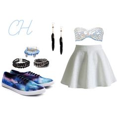 CH by ninahudson on Polyvore featuring moda, Chicwish, River Island, Alex and Ani, Pearlz Ocean, Pieces, Boohoo and Vans