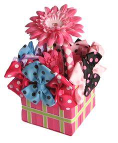 Hair Bow Gift Basket