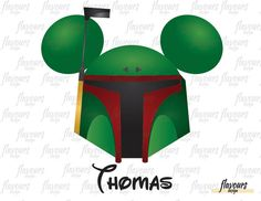Mickey Ears Boba Fett Inspired - Star Wars - Disney Iron On Transfer - DIY Disney Shirts - INSTANT DOWNLOAD by FlavoursStore on Etsy https://www.etsy.com/listing/503361265/mickey-ears-boba-fett-inspired-star-wars