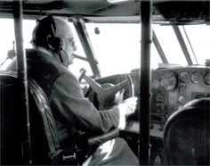 Winston Churchill at the controls of 314