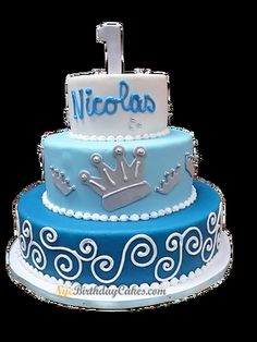 Cake Online First Birthday Cakes Tiered Custom Birthdays Queens United States Personalized Anniversary