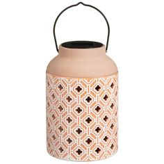 Desert Palms Solar Lantern - Terracotta | Solar Lights - B&M Solar Lanterns, Solar Lights, Garden Table, Terracotta, Light Up, Deserts, Glow, Palms, Bottle