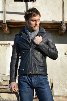 Lost In Albion Art Connor Leather Jacket #menswear #fashion #madeinitaly