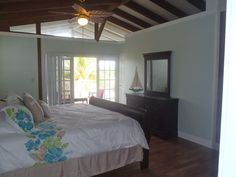 Marathon house rental - 2nd Floor Master Bedroom With Balcony, and Entry to Bunk Bedroom
