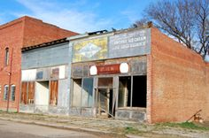 The east side of Main Street in Barnard, Kansas has not     faired well. Across the street; however, the post office and     a bank are still in business, Kathy Weiser, March, 2009