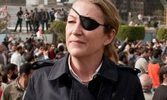 Nothing says high style bad ass like an eye patch you acquired while covering a conflict in Sri Lanka. Marie Colvin.