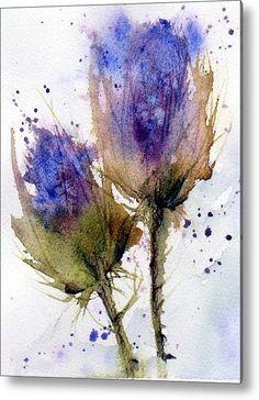 Blue Thistle Acrylic Print By Anne Duke