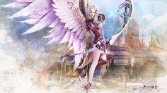 Aion fantasy cg archer girl angel