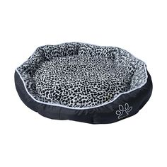 ALEKO PB05L Large 28X24X5 Inch Soft Plush Pet Cushion Crate Bed For Dogs and Cats With Removable Insert Pillow, Black and White Leopard Print ** Check this awesome product by going to the link at the image. (This is an affiliate link and I receive a commission for the sales)