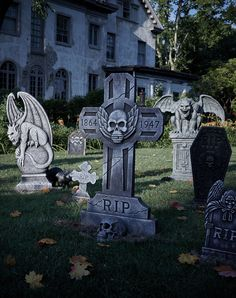 Make your home the spookiest one on the block with a creepy graveyard scene!