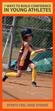 7 ways to build confidence in young athletes. Coaching tips for softball, baseball, soccer, lacrosse, volleyball, basketball, football and more. Softball Drills, Softball Coach, Girls Softball, Softball Players, Softball Memes, Volleyball Quotes, Coaching Volleyball, Volleyball Gifts, Girls Basketball