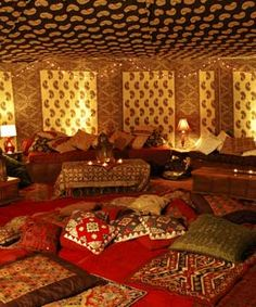 yurt in a room... we think it is important this space has natural lighting not typical office strip lights. We're going for a cosy living room yurty vibe.