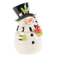 Holiday Cookie Jars From Kirkland's | Snowman Cookie Jar | Kirkland's | Christmas | Pinterest