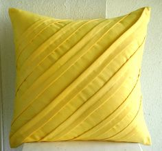 Contemporary Yellow  Throw Pillow Covers  20x20 by TheHomeCentric