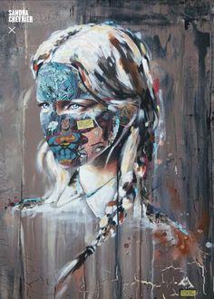 Sandra Chevrier Sandra Chevrier, Portraits, Collages, Comic Book, Painting, Projects, Beauty, Art, Brush Pen