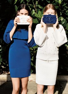 Chanel-ed in blue and white