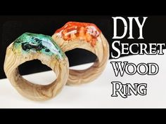 HOW TO MAKE SECRET WOOD RINGS (NO POWER TOOLS)  Tutorial polymer clay re...
