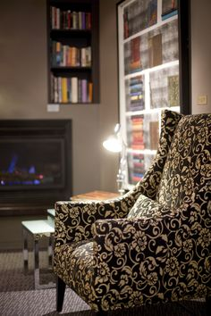 Reading corner in the guest lounge