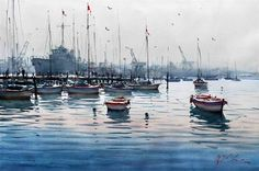 View Williamstown by Joseph Zbukvic on artnet. Browse upcoming and past auction lots by Joseph Zbukvic. Watercolor Water, Watercolor Artwork, Watercolor Landscape, Joseph Zbukvic, Sailboat Art, Watercolor Architecture, Watercolor Techniques, Watercolour Tutorials, Traditional Paintings