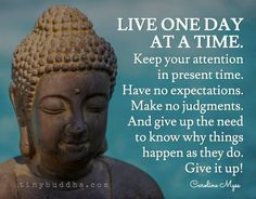 """Tiny Buddha on Twitter: """"Have no expectations. Make no judgements. And give up the need to know why things happen as they do. ~Caroline Myss https://t.co/Q6AVLHkfWK"""""""