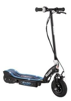 Take this Razor Glow electric scooter for a lightening bolt ride through the neighborhood like a bolt of blue lightning. In black/blue. Razor Electric Scooter, Electric Scooter For Kids, Kids Scooter, Electric Skateboard, Electric Power, Electric Razor, Sports Games For Kids, Toys For Boys, Cars