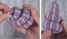 Snail – Free amigurumi pattern in English, Italian and French – Carmen Crochet Lilac Color, Turquoise Color, Crochet Ideas, Crochet Patterns, Black Thread, Tentacle, Yarn Colors, Snail, Crochet Toys
