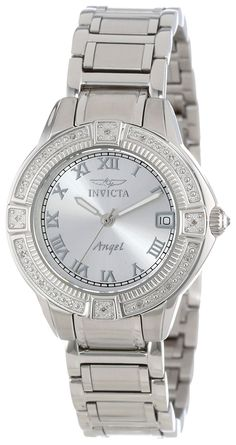 Invicta Women's 14801 'Angel' Stainless Steel and Diamond Bracelet Watch >>> See this great product.