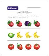 8 best Same & Different Worksheets images on Pinterest | Preschool ...