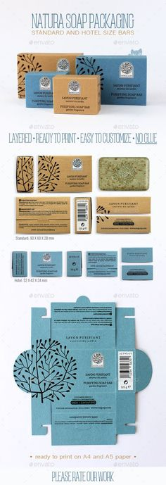 Natura Soap Packaging - Packaging Print Templates
