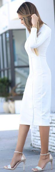 Jasmine Tosh Lately White Midi Dress Holiday Style Inspo