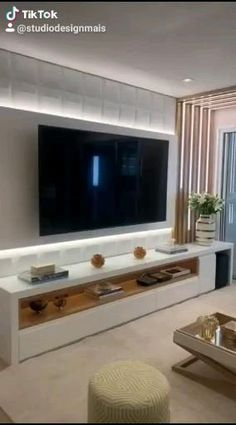 Living Room Partition, Ceiling Design Living Room, Family Room Design, Home Room Design, Home Interior Design, Living Room Tv Unit Designs, Tv On Wall Ideas Living Room, Living Room Tv Cabinet, Classy Living Room