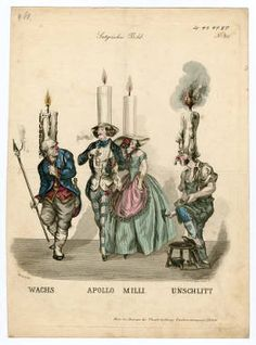 Theatrical satire 19th century, Plate 031.  Fashion plates, 1700-1955. The Costume Institute Fashion Plates. The Metropolitan Museum of Art, New York. Gift of Woodman Thompson (b17520939) | This satirical image comes from our Costume Institute Fashion Plates collection. #illustration