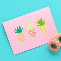 washi tape pineapples