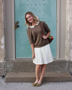 Love it with the short sleeve sweater.