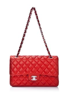 Vintage Pre-owned Chanel Quilted Lambskin Leather Double Flap Shoulder Bag. Sex-say!