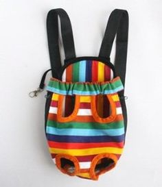 Cosmos ® Small Size Colorful Strip pattern Pet Legs Out front Carrier/bag   Cosmos Cable Tie: Dog Carrier