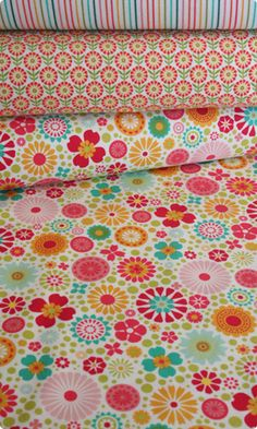 Riley Blake - So Happy Cotton Flannel, Flower Print
