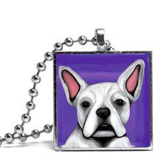 Amazon.com: French Bulldog Necklace - Purple: Chain Necklaces: Jewelry