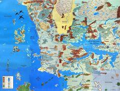 Faerun Forgotten Realms Toril Dungeons and Dragons Map Writing Fantasy, Fantasy Fiction, Fantasy Map, Fantasy Books, Dnd World Map, Rpg World, Forgotten Realms, Top Down Game, Fantasy Book Series