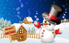 Snowman Christmas wallpapers and images wallpapers pictures