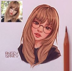 ▪ ️ Mixed 🍬, Angel Ganev - ArtStation – Angel Ganev The Effective Pictures We Offer You About cartoon boy A quality picture - Girl Drawing Sketches, Girl Sketch, Pencil Art Drawings, Realistic Drawings, Cool Drawings, Drawing Style, Photo To Cartoon, Art Mignon, Portrait Cartoon