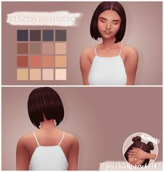 Mira & Peri buns Hair Recolors for The Sims 4
