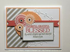 Paisleys and Posies stamp set - SU - by Lisa Martz - Fall