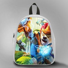 Lego The Legent Of Chima, School Bag Kids, Large Size, Medium Size, Small Size, Red, White, Deep Sky Blue, Black, Light Salmon Color