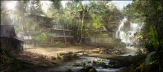:iconhappy-mutt: Jungle Conceptby Happy-Mutt Digital Art / Drawings & Paintings / Landscapes & Scenery